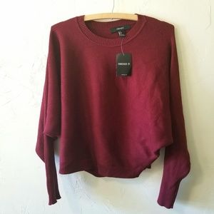 NWT Forever 21 Brick Red Batwing Sleeve Sweater
